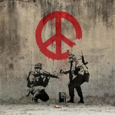 Peace by great Banksy