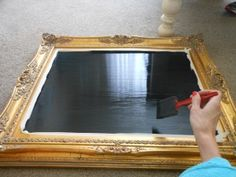 Chalkboard in a frame-My little Christmas project this year. Making this for my home ! justsydne