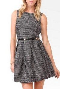 Essentiall Boucle Jacquard Dress