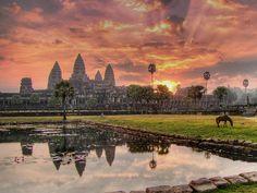 世界遺産 アンコールワット アンコール遺跡群の絶景写真画像  カンボジア