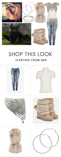 """""""Hicca Rose Haddock the Third: HTTYD OC - Modern Viking"""" by annabellewren ❤ liked on Polyvore featuring Hudson Jeans, Issey Miyake Cauliflower, JustFab, Melissa Odabash and modern"""