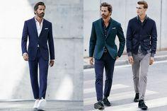 Colour - bright navy + teal  He By Mango Autumn 2014 Men's Lookbook   FashionBeans.com