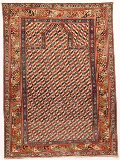 The educational rug photo-gallery with Shirvan rugs is one of the first published sections of Jozan Magazine. Images in the Shirvan rug gallery are published with permission from auction houses, dealers, collectors or museums. Prayer Rug, Rare Antique, Tribal Rug, Oriental Rug, Vintage Rugs, Prayers, Auction, Antiques, Gallery