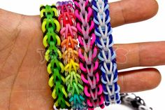 The tribal fishtail was designed by Jo Hunt - instagram @5kidscausechaos  This bracelet can be made on the original rainbow loom, monster tail, mini loom, cra-z loom, fun loom, bandaloom, fork and any loom that has 2 pins.   We recommend choosing 3 different colors or sets of colors in order to make the pattern the most appealing
