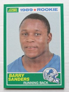 Barry Sanders  1989 Score #257 Football Card ROOKIE RARE
