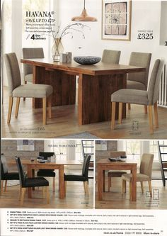 Havana Dining Table 325 H 750 W 1950 D 900 Warm Accacia Wood Effect