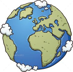 Cartoon Earth by memoangeles Cartoon earth. Vector clip art illustration with simple gradients. All in a single layer. Planet Drawing, Earth Drawings, Drawing Of Earth, Art And Illustration, Free Illustrations, Earth Sketch, Animated Earth, Globe Drawing, Globe Art