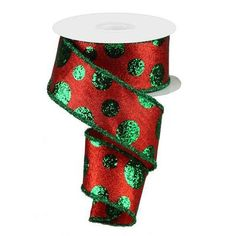 Browse our Red Large Emerald Green Glitter Polka Dot Ribbon, as well as other Ribbon Polka Dot at Trendy Tree. Emerald Color, Emerald Green, Ribbon On Christmas Tree, Christmas Trees, Christmas Table Centerpieces, Green Materials, Trendy Tree, Green Glitter, Christmas Holidays