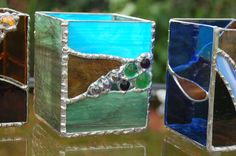 French Countryside Stained Glass Candle Holder by DianeMarieArt, $45.00