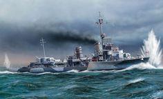 Zerstorer Z-26, de la clase 1936A, 3.600 t, 37 nudos, armado con cuatro piezas de 15 cm y ocho tubos lanzatorpedos, comisionado en Enero de 1941, enviado al Noruega como escolta del Admiral Hipper, en cuyos mares en Abril de 1942 participa en el ataque al convoy PQ-13, hundiendo al mercante Bateau, pero resultando alcanzado... Más en www.elgrancapitan.org/foro