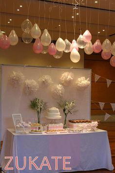 Baptism party decorations!  See more party planning ideas at CatchMyParty.com!
