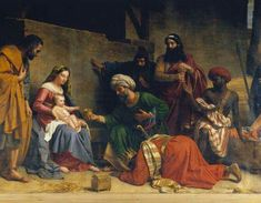 Holy Family and the Three Wise Men