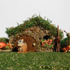 The Humbug House, hobbit style garden cottage.