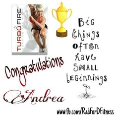 So I know I'm late with announcing the winner of my last challenge but a great big SHOUT OUT to Andrea Ellis Flegel!    Way to go girl! You stayed committed and kept pushing!  You inspire me everyday!  Woot Woot!   I am so excited to be a part of your journey!    Next challenge starts on the 20th! Who's ready to kick some booty with their health and fitness goals?    #winner #challengeaccepted #becomeamazing