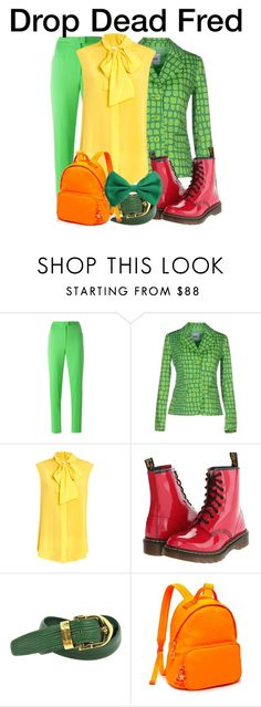 """""""Drop Dead Fred"""" by nerd-ville ❤ liked on Polyvore featuring Maison Margiela, Moschino Cheap & Chic, Moschino, Dr. Martens, Louis Vuitton, Tommy Hilfiger, men's fashion and menswear"""