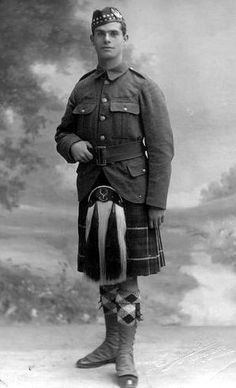 Old photograph of a Scottish Soldier from Scone by Perth, Perthshire, Scotland