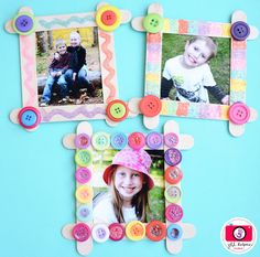 Spring art projects for kids preschool families 29 ideas - Easy Crafts for All Mothers Day Crafts For Kids, Fathers Day Crafts, Diy Crafts For Kids, Fun Crafts, Popsicle Stick Picture Frame, Picture Frame Crafts, Picture Frames, Popsicle Crafts, Craft Stick Crafts
