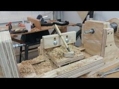 I made a drill powered mini/pen lathe using roller blade wheel bearings and a couple of scrap pieces of plywood. For futher information check out my insructa...