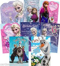 free 4th birthday cards for granddaughter   Disney Frozen Birthday Card Sister Niece Granddaughter Daughter 4 5 6 ...