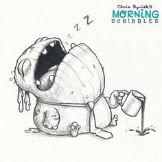 https://flic.kr/p/JCBvXJ | Sometimes mornings are hard. ☕️ #morningscribbles