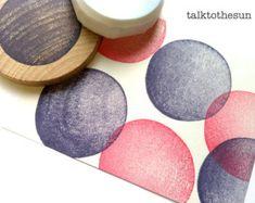 Spiral-Kreise-Briefmarke. geometrischen Kreis Hand von talktothesun