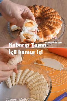 Fluffy Overflowing Stuffed Pastry - # Poğaçatarif of # Börektarif of - Pizza Pastry, Breakfast Pizza, Sweet Desserts, Waffles, French Toast, Pie, Educational Activities, Food, Essen