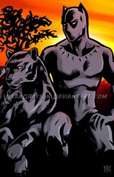 Black Panther by DeanGrayson on DeviantArt Black Panther King, Black Panther Party, Black Panther Marvel, Marvel Art, Marvel Dc Comics, Marvel Heroes, Marvel Avengers, Comic Art, Comic Books
