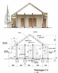 contoh gambar denah dan potongan rumah 3