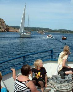 Turister på vei til Hellesund i Søgne fra Høllen