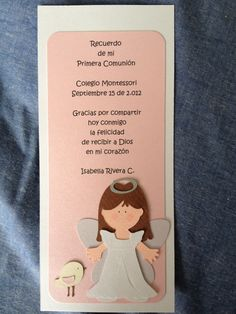 Recordatorio Baby Shower, First Holy Communion, Christening, Scrapbook, Business Cards, Angeles, Craft, Craft Ideas, Block Prints