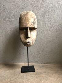 Prachtig houten masker op statief standaard hout kop hoofd landelijk stoer robuust industriële zwart metalen voet Woodcarving, Wood Art, Art Projects, Bathroom, Drawings, Garden, Inspiration, Home Decor, Ideas