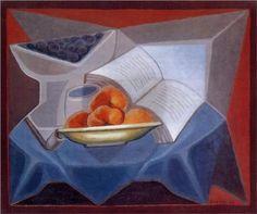 Fruit and Book - Juan Gris
