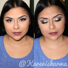 Makeup look from this weekend. She's so gorgeous!! I forgot to take a before picture, oh well 🙄  Used: Stila magnificent metals on the lid, Morphe 35O palette, and Stila Amoré liquid lipstick 💄  #muaaddicts_ #wakeupandmakeup #muaslayings #mac #beforeandafter #boston #Connecticut #providence #l4l #f4f #makeupartcosmetics #makeup #transformation #mua #makeupartist #slay #yas #motd #makeupoftheday #bookme #universodamaquiagem_oficial #makeupartistsworldwide #maquiagem #maquillaje
