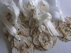 Sweet vintage inspired gift tag ornament by tinybearstudio on Etsy