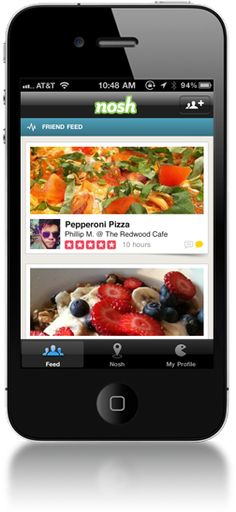 Nosh - Share what you eat with your friends and see what's good to eat everywhere.