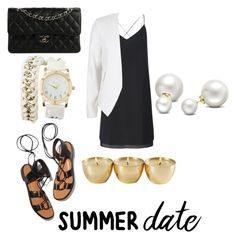 """""""Summer date"""" by naenaez ❤ liked on Polyvore featuring Miss Selfridge, River Island, Rosetta Getty, Chanel, Charlotte Russe, Allurez, summerdate and rooftopbar"""