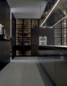 Modern Kitchen Design – Want to refurbish or redo your kitchen? As part of a modern kitchen renovation or remodeling, know that there are a . Modern Kitchen Lighting, Modern Kitchen Design, Interior Design Kitchen, Modern Interior Design, Interior Architecture, Lobby Interior, Modern Interiors, Luxury Interior, Black Kitchens