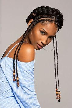 47 Sexy Fulani Braids ponytails That Will Attract Your Mind 47 Sexy Fulani Braids ponytails That Will Attract Your Mind # Braids with beads ponytail # festival Braids ponytail # fulani Braids with beads Hot Hair Styles, Curly Hair Styles, Natural Hair Styles, African Braids Hairstyles, Braided Hairstyles, Hairstyles 2018, Hairstyles Videos, Cabello Afro Natural, Protective Styles