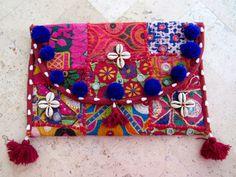 etsy $45 Handmade Ethnic Boho Clutch Bags