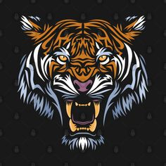 Shop Tribal face tiger tiger t-shirts designed by albertocubatas as well as other tiger merchandise at TeePublic. Tribal Tiger, Tigre Tribal, Tribal Face, Tiger Art, Tiger Tiger, Tiger Illustration, Tiger Tattoo, Lion Tattoo, Art Tigre