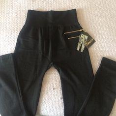 Black leggings Brand new large furry inside Pants Leggings