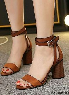 Say hello to your new everyday shoe . the Harper Nude Suede Ankle Strap Heels! A chic single sole silhouette with wrapped block heel. Pretty Shoes, Beautiful Shoes, Cute Shoes, Me Too Shoes, Ankle Straps, Ankle Strap Sandals, Shoes Sandals, Heeled Sandals, Strappy Sandals