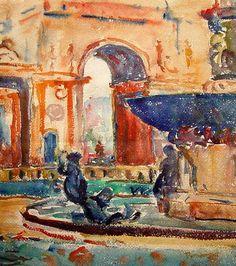 Maurice Prendergast - Arc du Carousel , Le Louvre