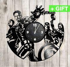 Avengers wall art Avengers decal and wall clock by SInteriorsShop