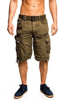 Geographical Norway Hommes Cargo Shorts People: Geographical Norway Homme Cargo Short People – Haute qualité tissu de coton la Hommes Chino…