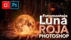 Como Hacer un FOTOMONTAJE de LUNA LLENA en PHOTOSHOP | Tutorial ⭐⭐⭐⭐⭐ Photoshop Video, Photoshop Tutorial, Adobe Photoshop, Graphic Design, Celestial, Instagram, Illustration, Outdoor, 3d