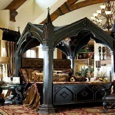 I friggin love this bed and room...