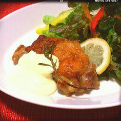 レモンでさーっぱり鶏肉をいただきました〜(*´▽`*) - 259件のもぐもぐ - 鶏肉のロースト☆レモンマヨネーズソース♪ by suzuranranran