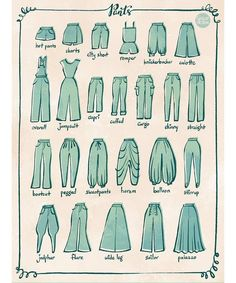 Fashion Design Sketches 614600680381154693 - From 100 Tuesday Tips volume some of the different type of pants. I personally love culotte and harem pants. Source by Fashion Design Drawings, Fashion Sketches, Drawing Fashion, Clothing Sketches, Drawing Techniques, Drawing Tips, Drawing Drawing, Drawing Poses, Drawing Ideas