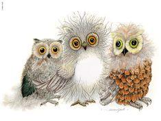 Three Owls Marian Gault Pinned by www.myowlbarn.com